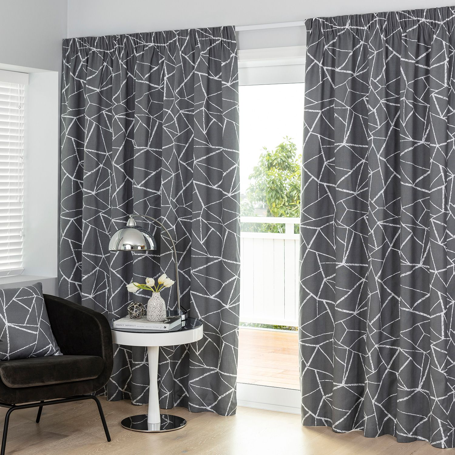 Porter Smoke Readymade Lined Pencil Pleat Curtain Curtain Studio Buy Curtains Online Pleated Curtains Buy Curtains Online Curtains