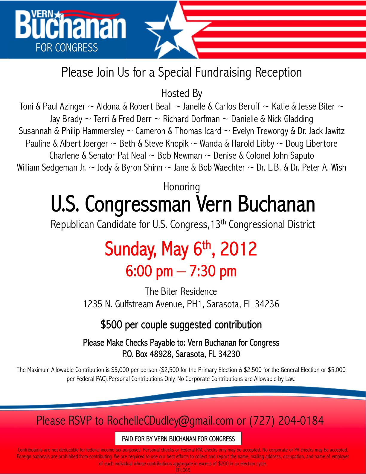 Political fundraiser invitations | Online Candidate Regular ...