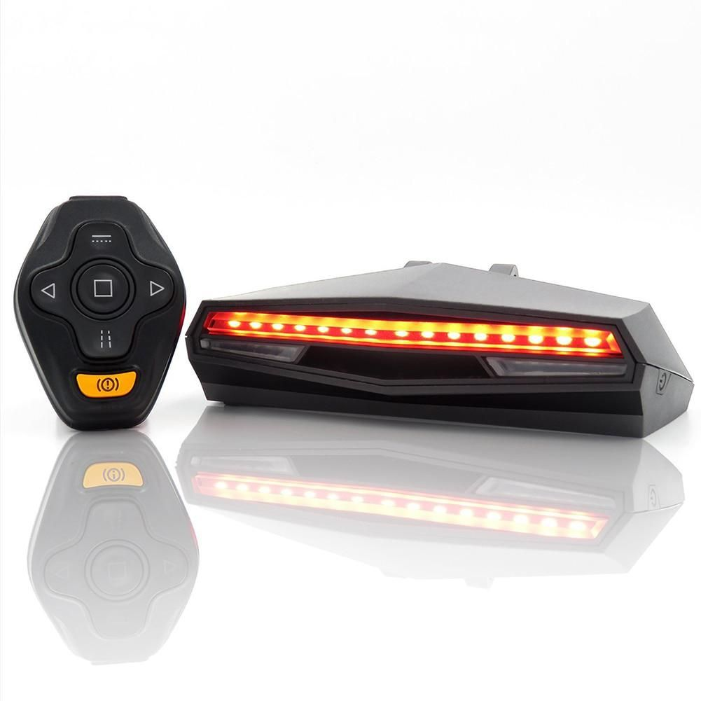 USB Rechargeable LED Bike Bicycle Tail Light Turn Signal Rear Lamp and Remote