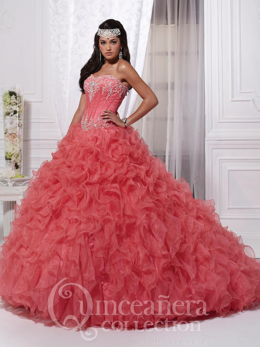 Salmon Sweet 16 Dresses