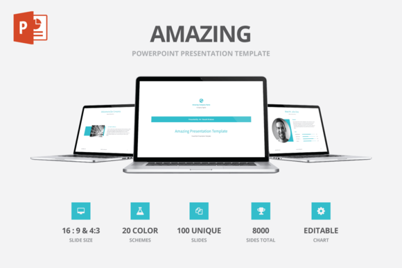 Amazing PowerPoint Template Template Power Point Templates And - Awesome logo presentation template scheme