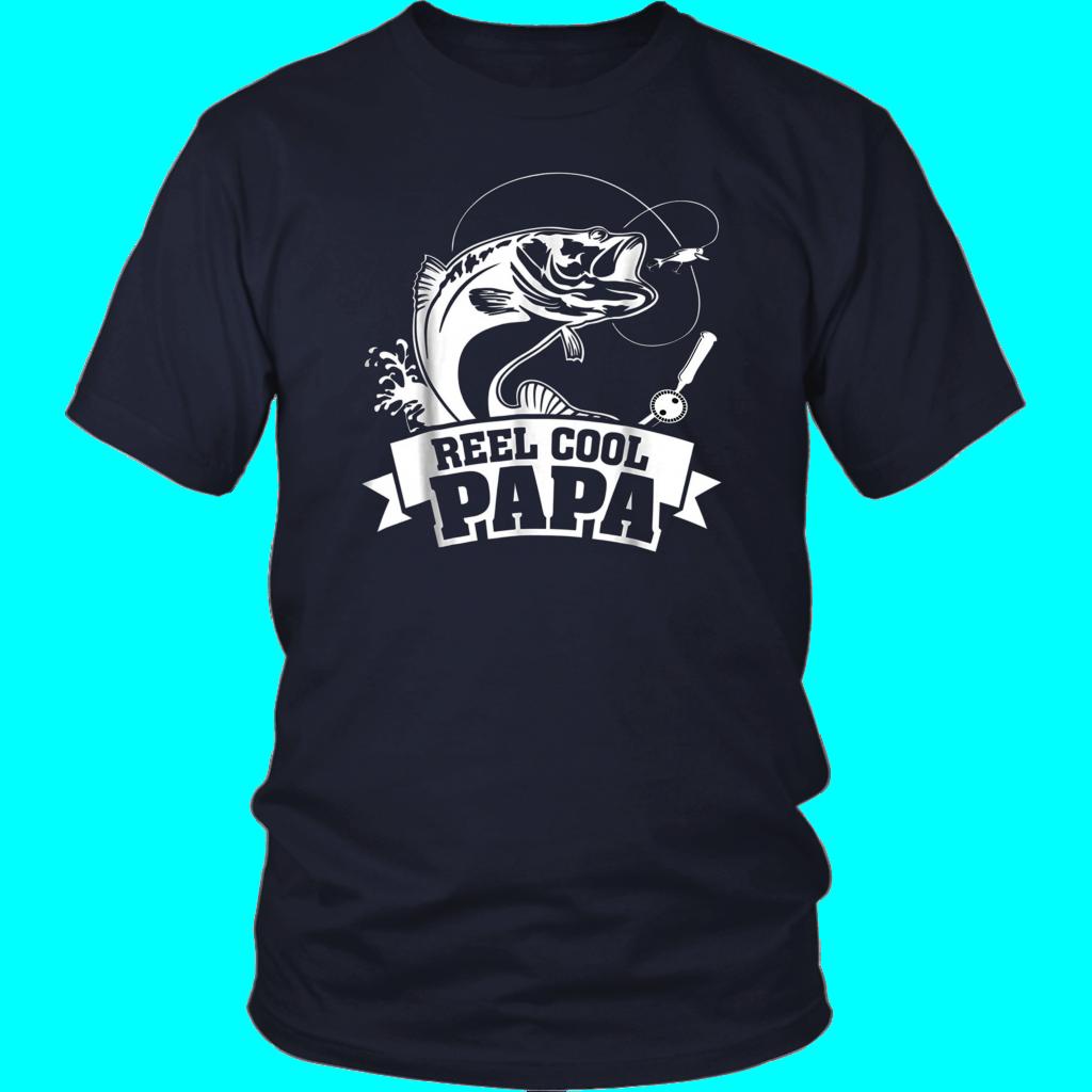 ab5dd2e51 Mens Reel Cool Papa Fishing Grandpa Father's Day Gift T-Shirt | Reel ...