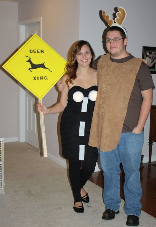 Deer In the headlights Halloween costume  sc 1 st  Pinterest & Deer In the headlights Halloween costume | halloween | Pinterest ...