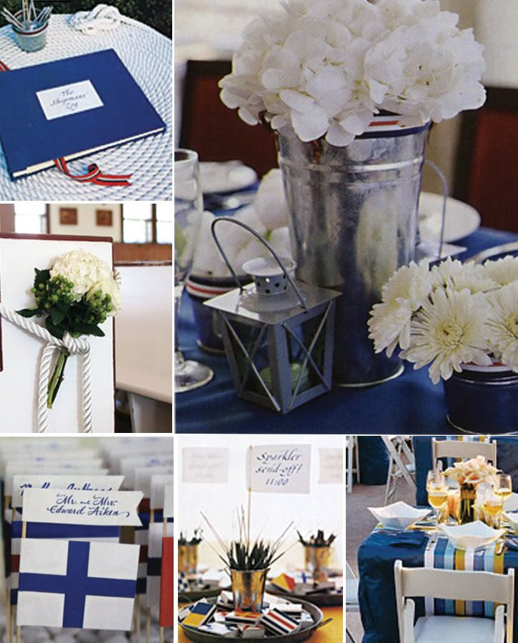 Cute I Don T Want Nautical But The Silver Buckets Are A Good Idea And Love Flowers