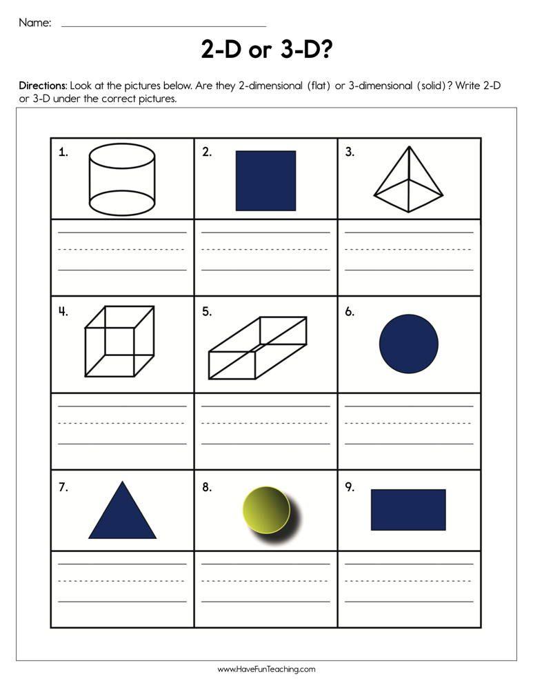 2d Or 3d Shapes Worksheet Shapes Worksheet Kindergarten Kindergarten Worksheets 2d Shape Worksheets Kindergarten Polygon worksheets for 2nd grade
