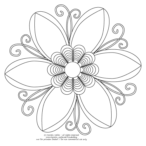 Flower | Icing Tutorials | Pinterest | Schablone, Ausmalbilder für ...