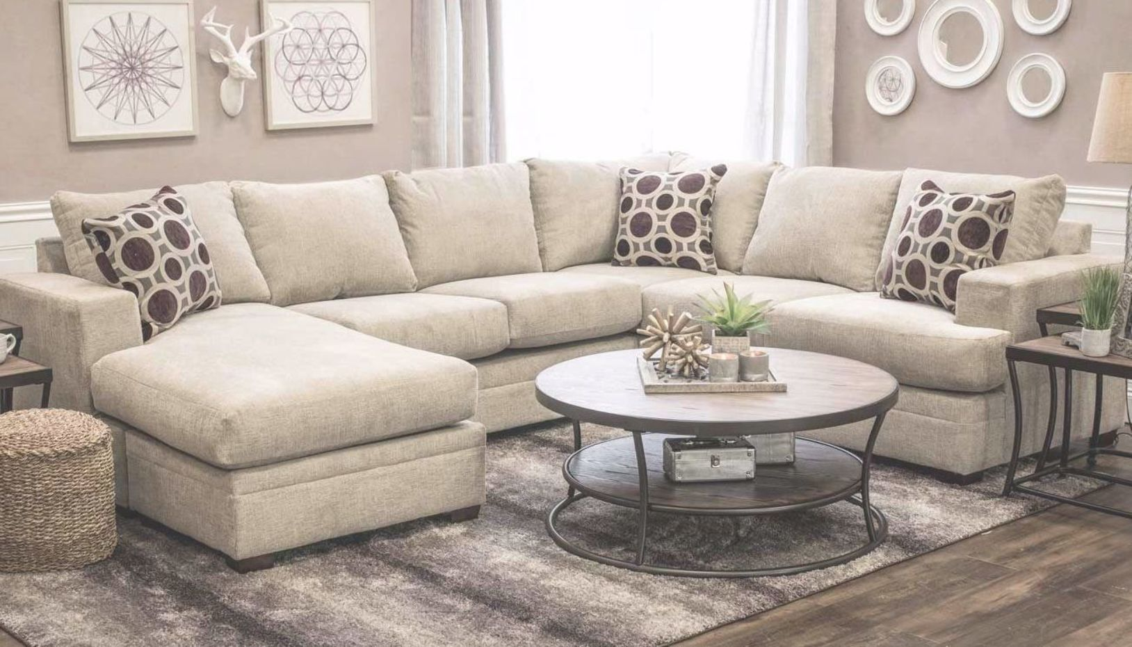 Sullivan Canvas Sofa With Chaise Home Zone Furniture Living Room Home Zone Furniture Furniture S Furniture Cheap Living Room Sets Living Room Furniture