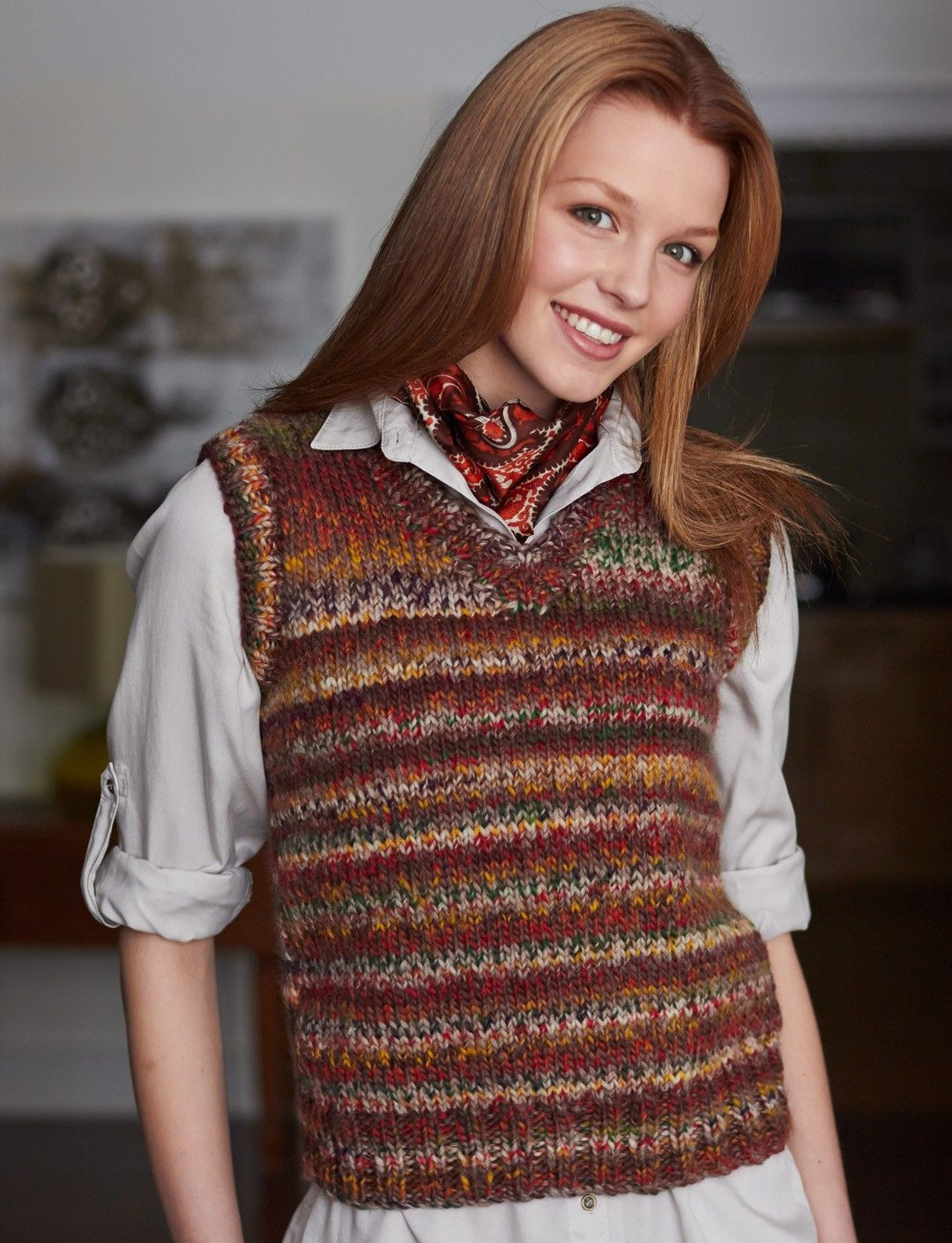 Yarnspirations.com - Patons Basic Vest - Patterns | Yarnspirations ...
