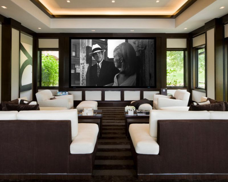 Perfect Home Theater   Willoughby Way   Contemporary   Media Room   Other Metro    Charles Cunniffe Architects Aspen