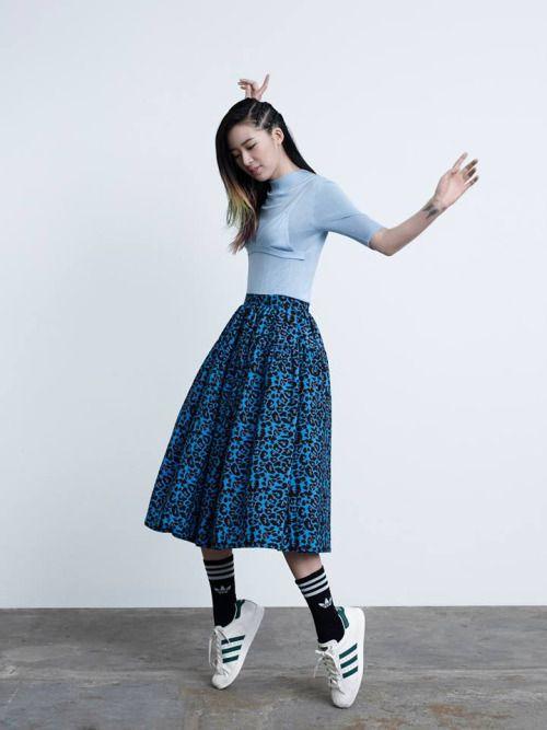 www.littlepinkmoto.com / Tumblr Picks koreanmodel: Irene Kim for Adidas Original Superstar Spring 2015
