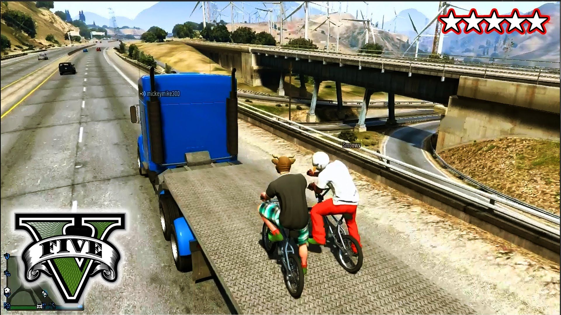 Gta 5 Bmx Stunts And Jumps Freeroaming With The Crew Grand