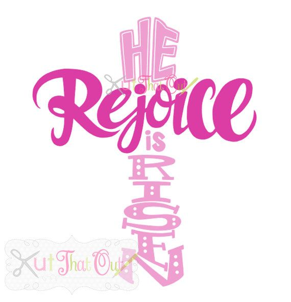 EXCLUSIVE Rejoice He Is Risen Cross SVG and DXF File by ...