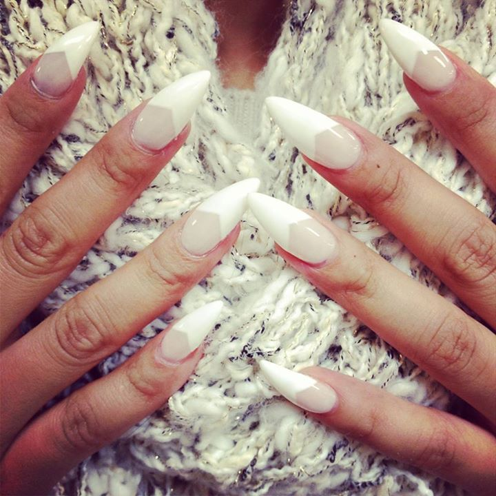 Nails, Nokti, Nägel, Weis, Belo, White | Mode | Pinterest