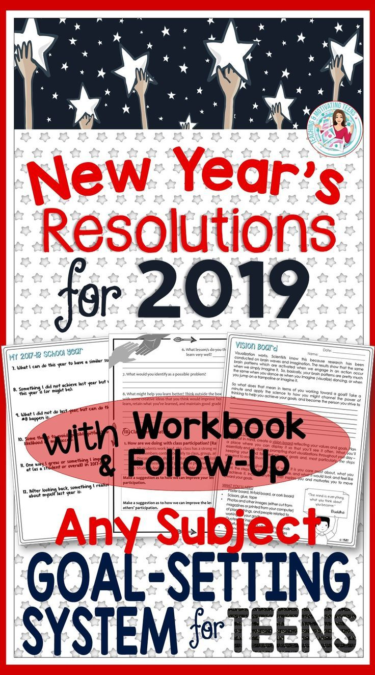 New Year's Resolutions Year Long Goal Setting