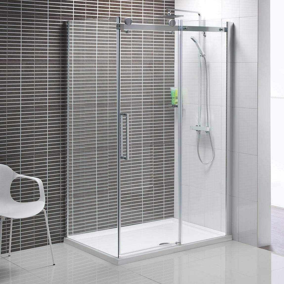 Merlyn 8 series sliding door amp inline panel - V8 Frameless Sliding Shower Enclosure 1200 X 900