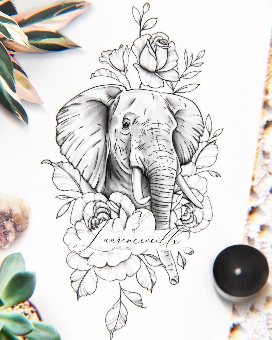 20 Tattoo Elefanten Ideen in 20   tattoo elefanten, elefanten ...