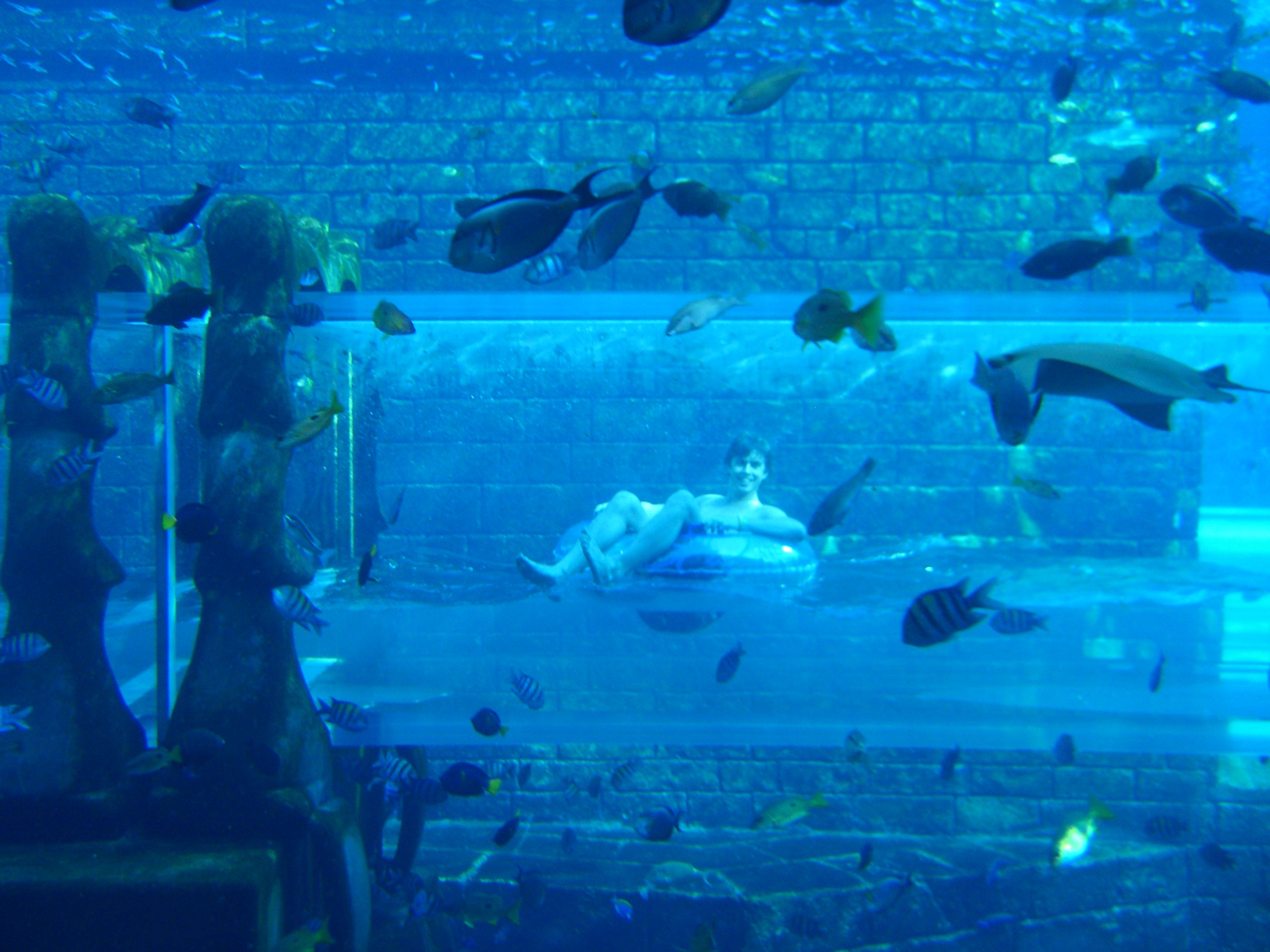 This is at Atlantis in the Bahamas where you float through ...