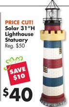 "Solar 31""H Lighthouse Statuary from Big Lots $40 00 (SAVE"