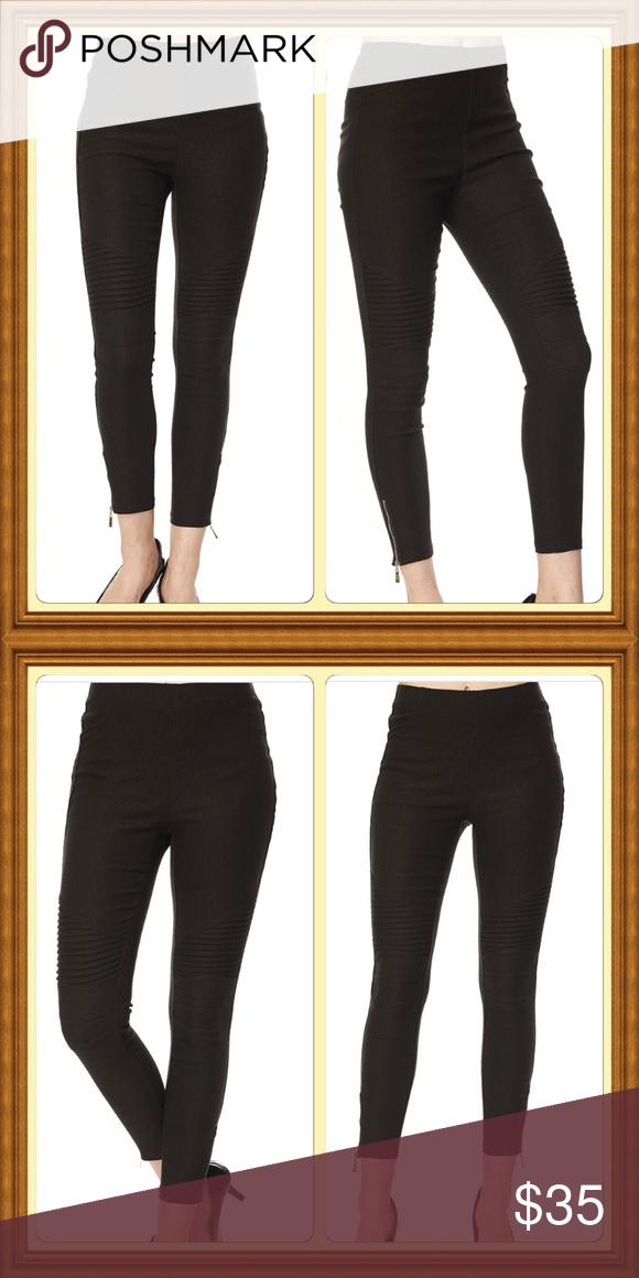 Black Moto Pants with Ankle Zipper Black Moto Pants with Ankle Zipper. Pull on Style. Pants Ankle & Cropped