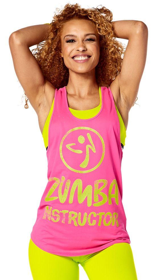 Dance Gypsy Zumba Instructor Loose Tank - Shocking Pink  0e6c2ed924f