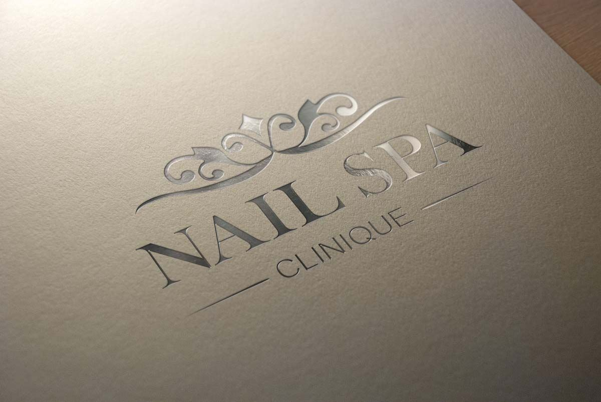 A custom logo design for a nail spa salon. Very elegant and chic ...