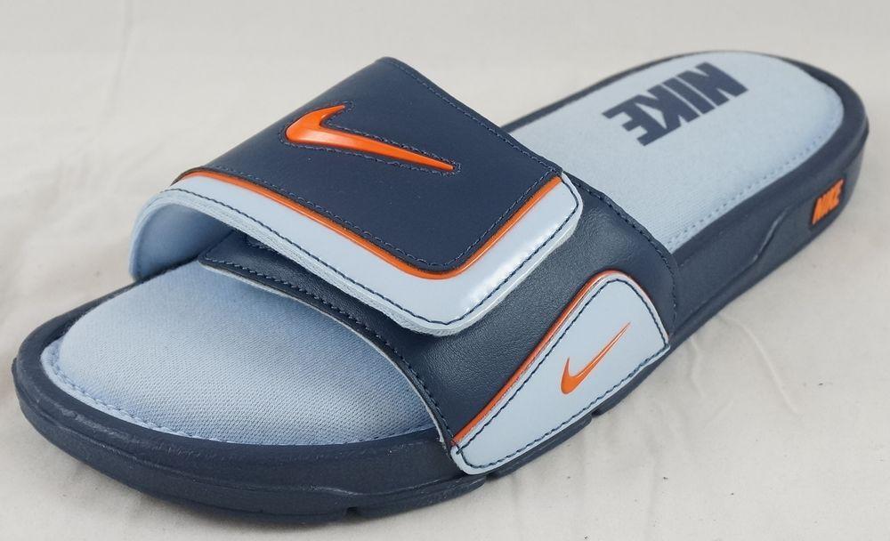 Men S Nike Comfort Slide 2 Blue Orange Navy Sandals 11