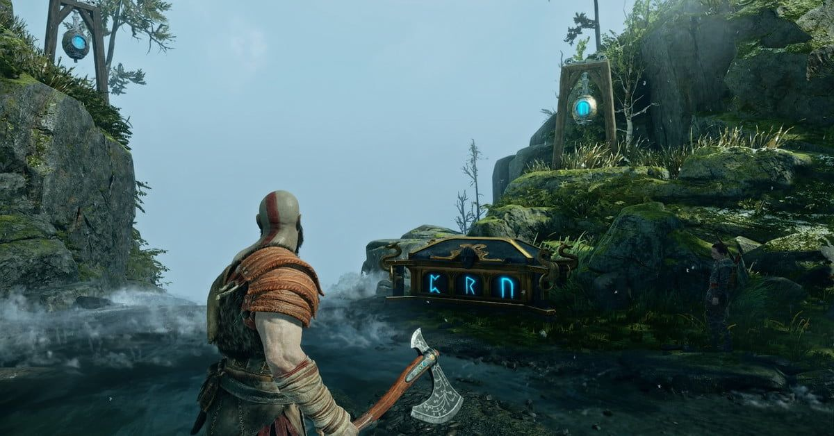 Here S Every Single Nornir Chest In God Of War And How To Open Them Magical Tree Iphone Wallpaper Tree Iphone