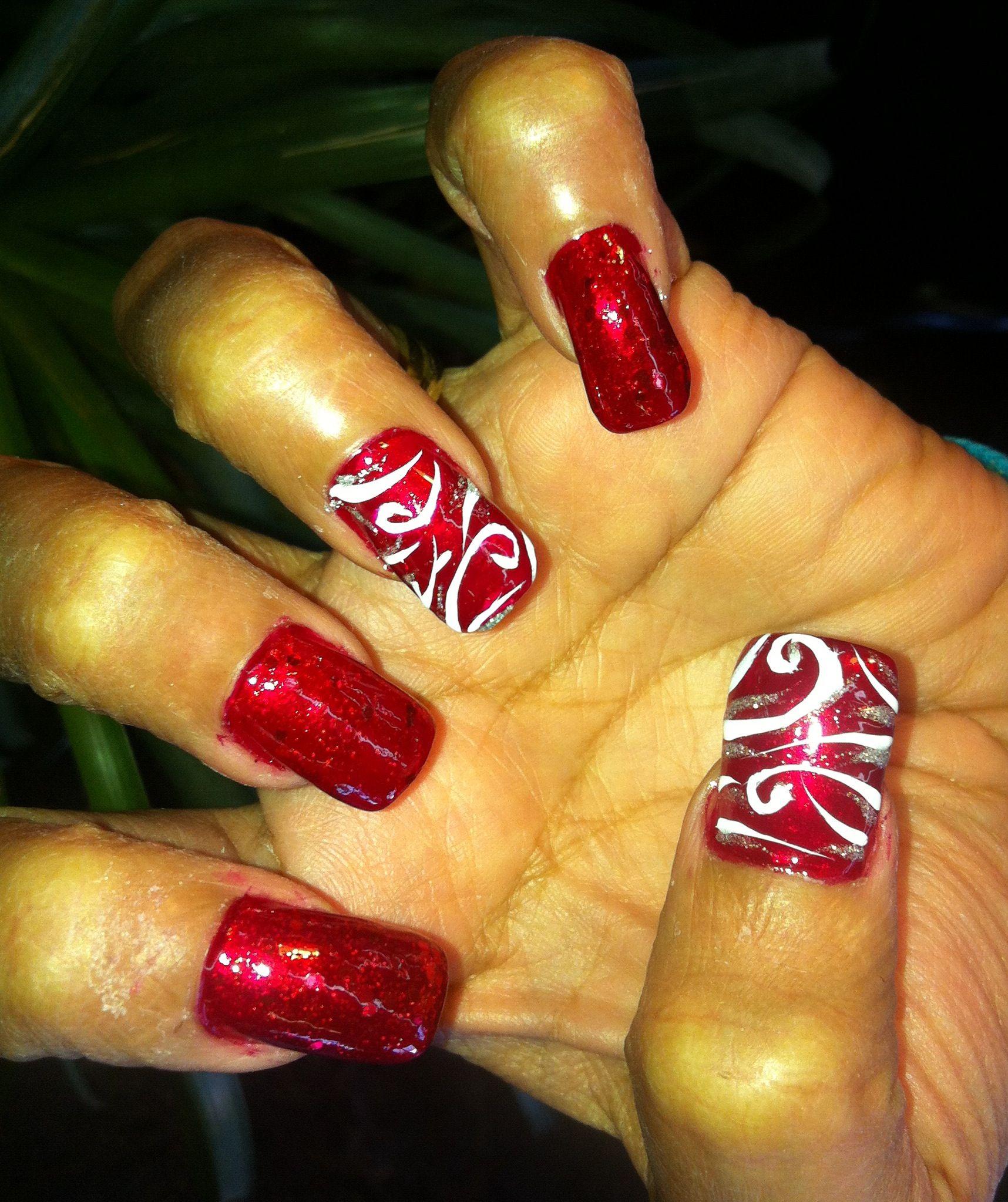 Hand Painted Nail Art Designs: Exotic Nails Hand Painted Nail Art