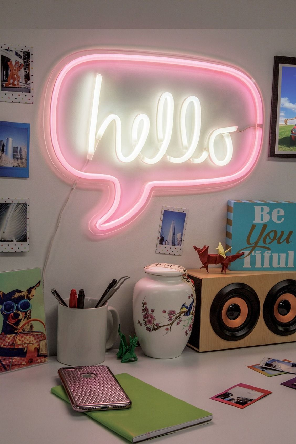 Merkury Innovations Hello Bubble 17 Led Wall Sign Nordstrom Rack Wall Signs Funky Home Decor Led Decor