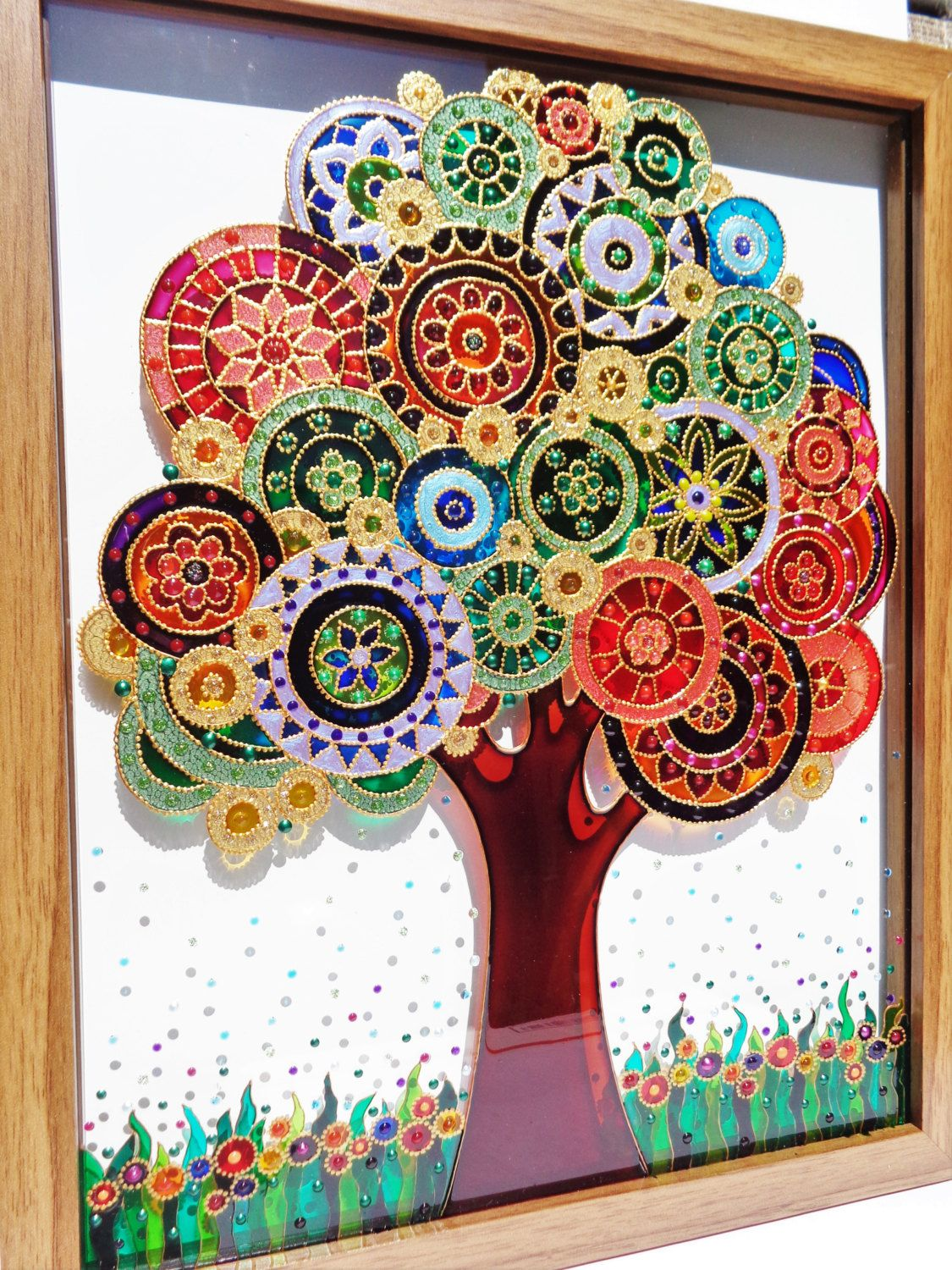 Tree Art 12 Quot X15 Quot Tree Of Life Glass Painting Glass Art