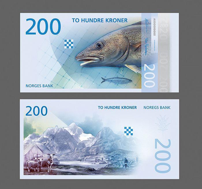 UNC Norway 200 Kroner 2016 New design 2017 P-New