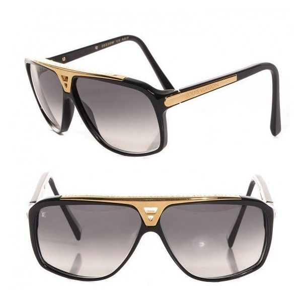 ee5156e229 LOUIS VUITTON Evidence Sunglasses Z0350W Black ❤ liked on Polyvore  featuring accessories