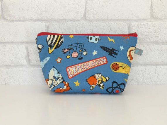 Spaceboy Kid's Wash Bag / Toiletry Bag with by ollieandroo on Etsy, £12.00