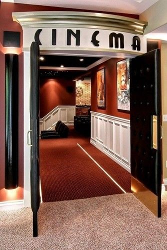 Media Room Design, Pictures, Remodel, Decor and Ideas - page 17 If I could afford it, this would be my preferred entrance to my media room! Yes!