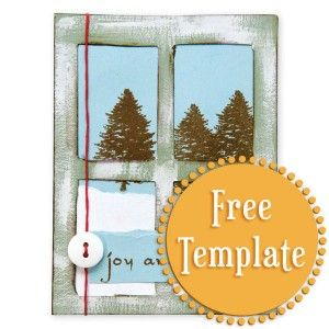 Window Template Card Making Templates Window Cards Card Templates