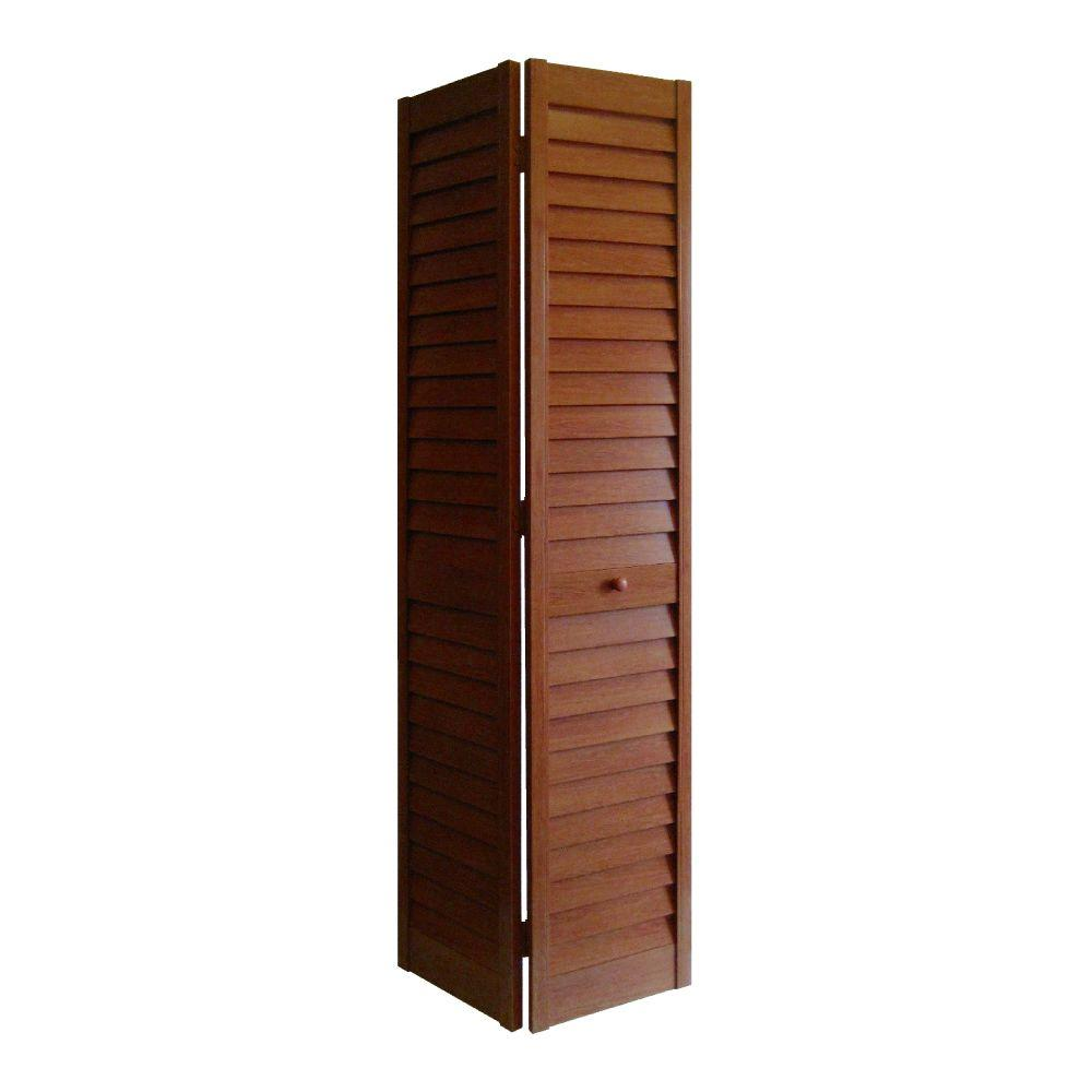 Home Fashion Technologies 28 In X 80 In 3 In Louverlouver Cherry