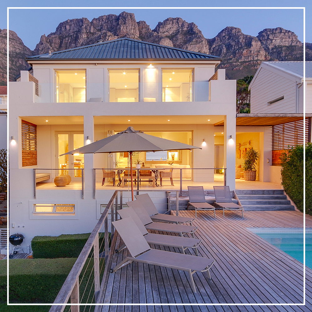 to this stylish Cape Town villa, hidden within a