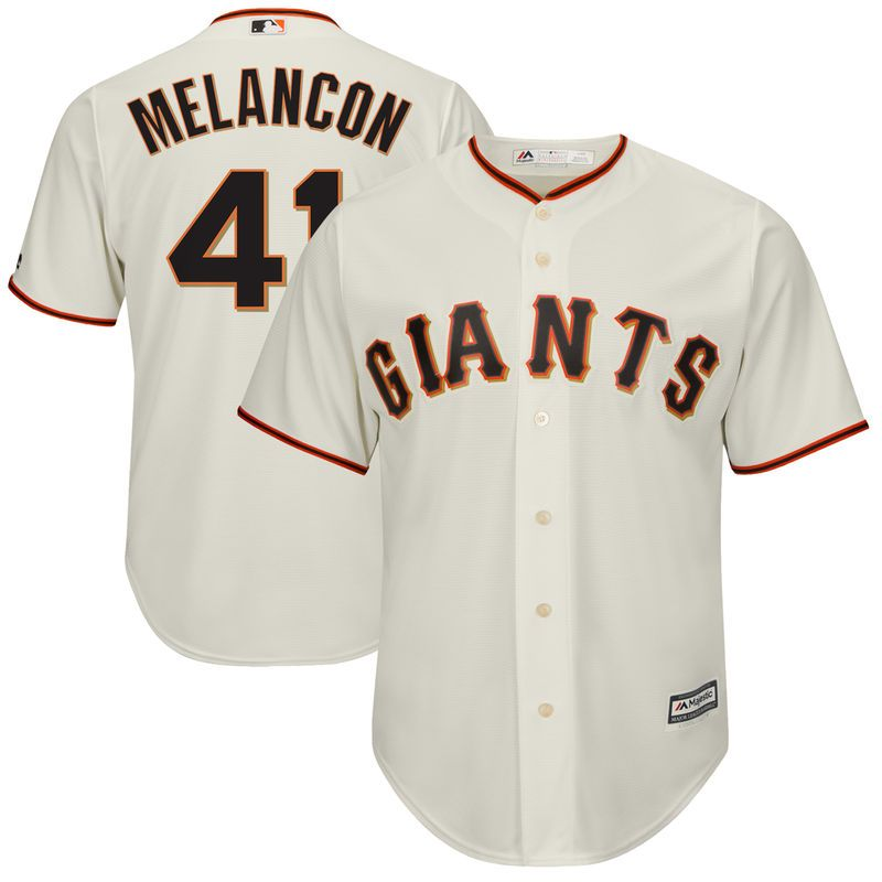 70f6bfcc Mark Melancon San Francisco Giants Majestic Cool Base Alternate Player  Jersey - Cream