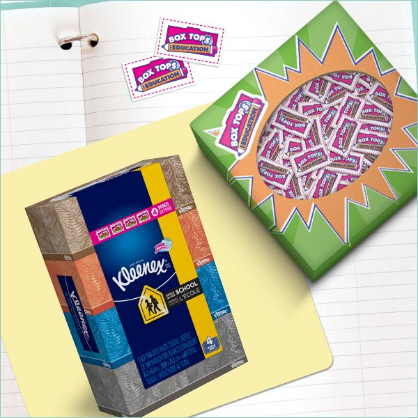 If you've started your back-to-school shopping, remember this perk of picking Kleenex® Tissues. We're the only facial tissue that supports Box Tops for Education!