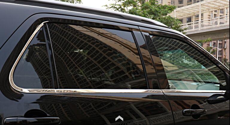 Stainless Steel Lowetr Bottom Window Frame Sill Cover Trim 6pcs For Ford Explorer 2016 Ford Explorer Window Frame Explore