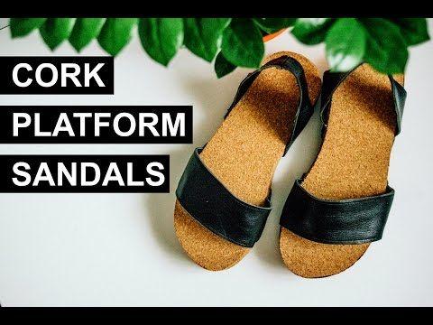CORK PLATFORM SANDALS | ANNAINTHEMIRROR - YouTube