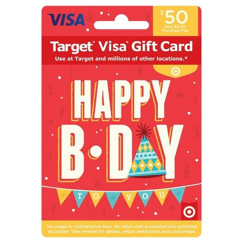 Visa Happy B-Day Gift Card - $50 + $5 Fee | Target visa gift card ...