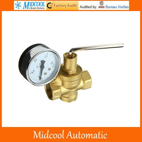 Brass Dn15 1 2 Water Pressure Regulator Valve And Pressure Gauge Pressure Retaining Valve Water Pressure Reducing Valve Pressure Gauge Valve Hardware