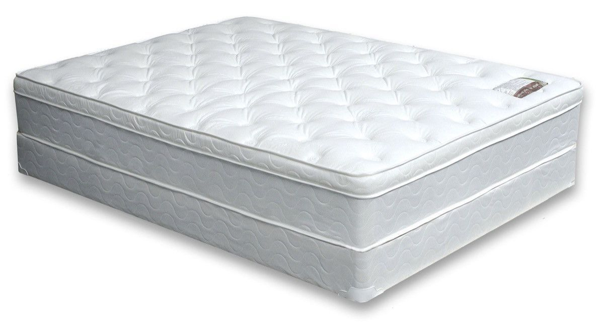 furniture of america minah 11 inch cal king euro pillow top mattress
