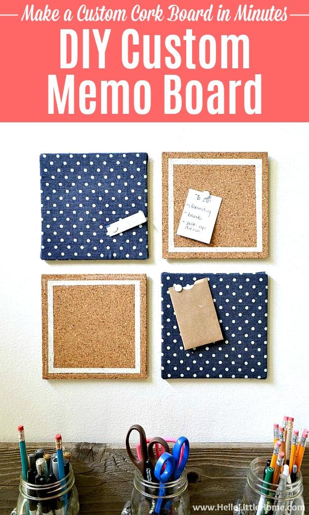 Make Your Own Memo Board Diy Memo Board Memo Board Fabric Memo Boards