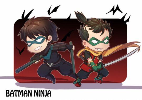 نتیجه تصویری برای robins in batman ninja fanart