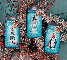 Jar Ornaments Chris Haughey From The Book Treasured Christmas And Wood Surfa