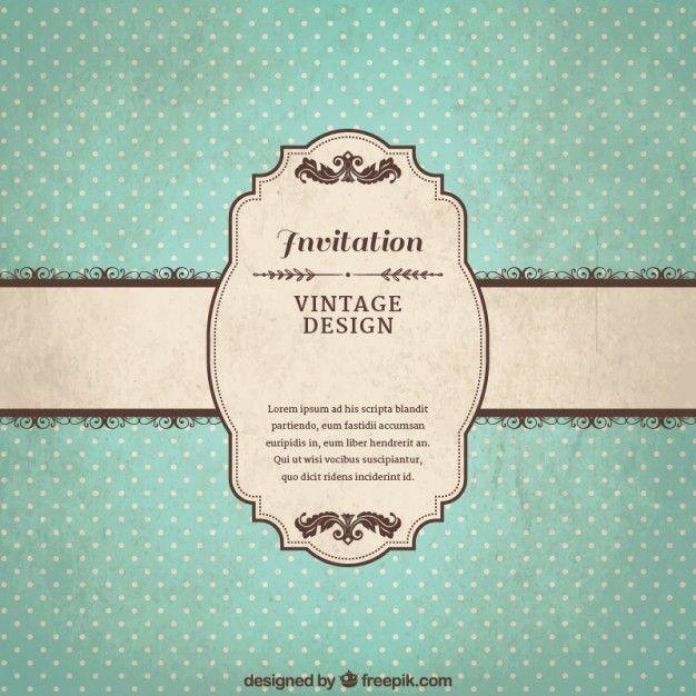 Vintage Invitation Template Free Vector Freepik Freevecto In 2020 Vintage Wedding Invitations Templates Wedding Invitations Printable Templates Vintage Invitations