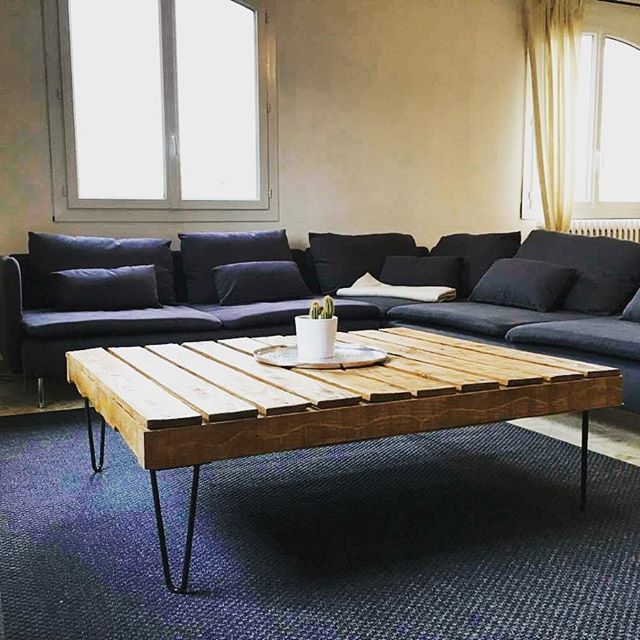 Atelier Ripaton - Hairpin Legs - Grande Table Basse Design En Bois