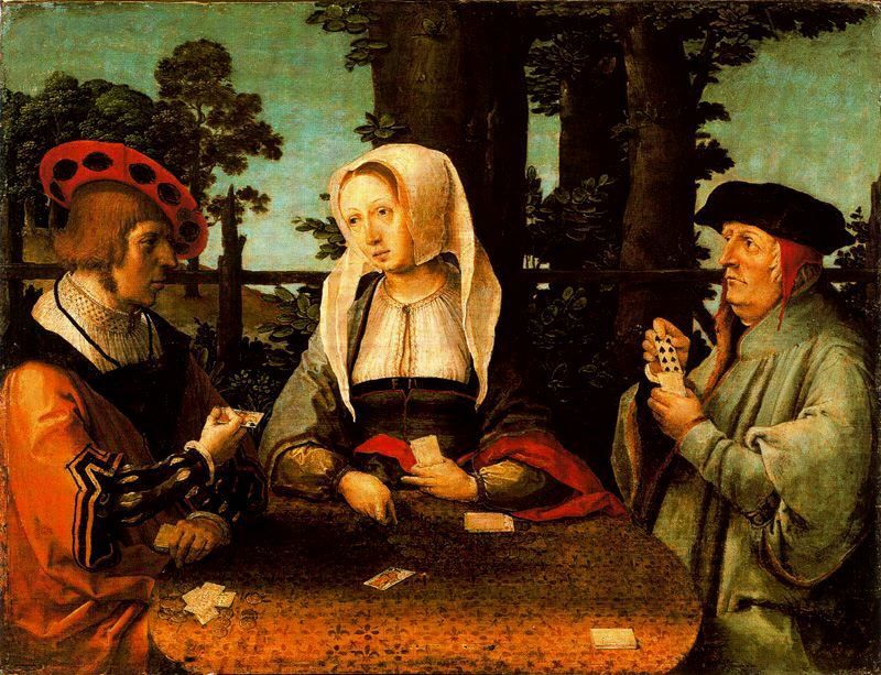 La partida de Naipes 1513-1515 Museo Thyssen - Madrid-  Lucas van Leyden (1494 – 1533)